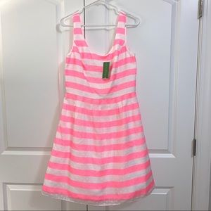 Lilly Pulitzer NWT Posey pink striped dress 10